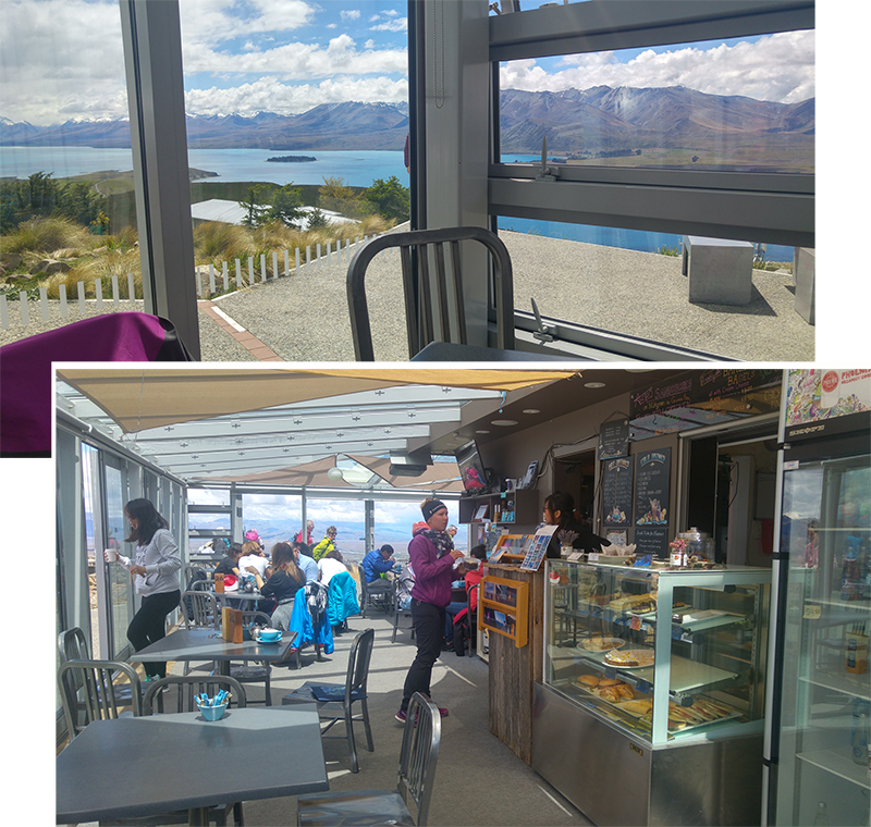 Coffee with a Panoramic View of Lake Tekapo