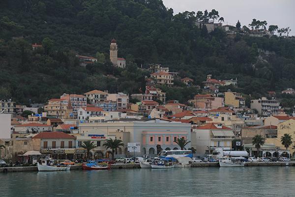 Sailing into Zakynthos Port