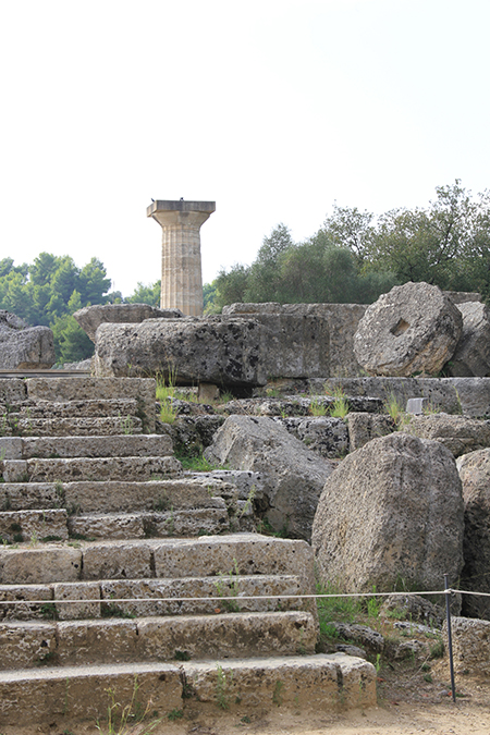 The remains of Zeus Temple