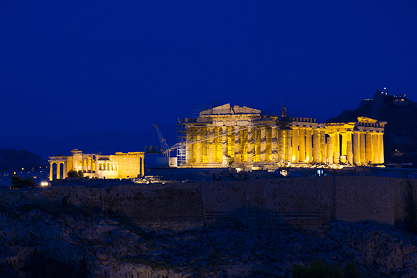 Night view of The Acropolis