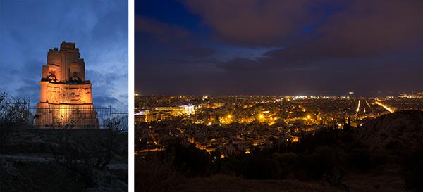 Night Views from Filopappou Hill