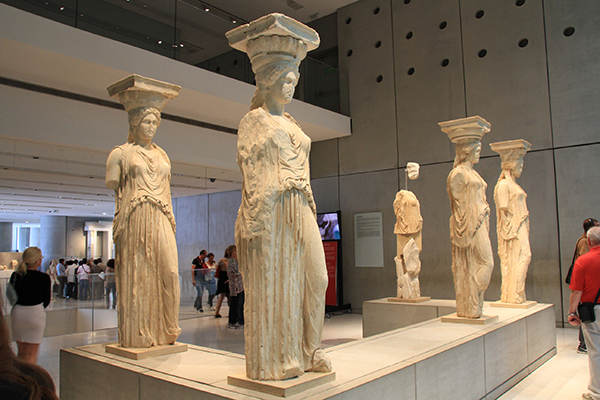 The famous Caryatids of Erechtheion