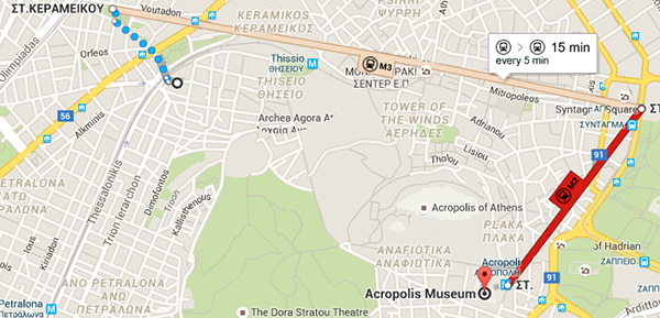 Getting to New Acropolis Museum by subway