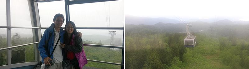 Gondola on the Mt Asahidake ropeway