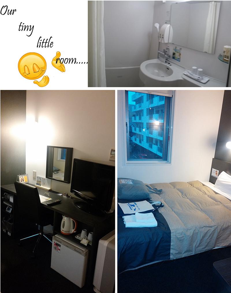 Our double room at Super Hotel Asahikawa