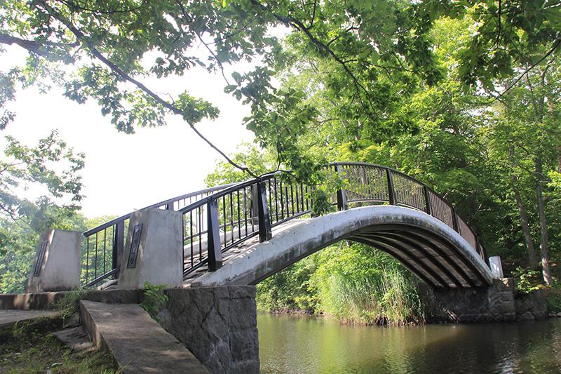 One of the many bridges at Lake Onuma