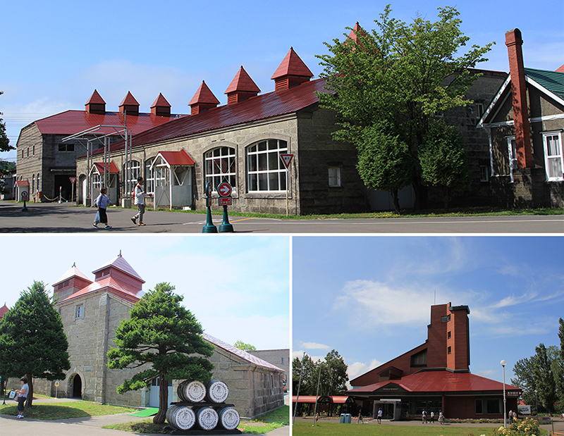 Buildings in the compound of Nikka Whisky Winery