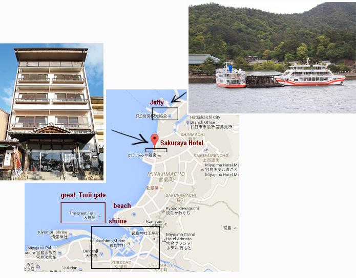 Map of Miyajima