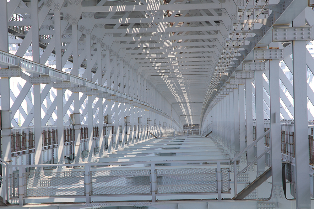 Central section on the underside of Onaruto Bridge