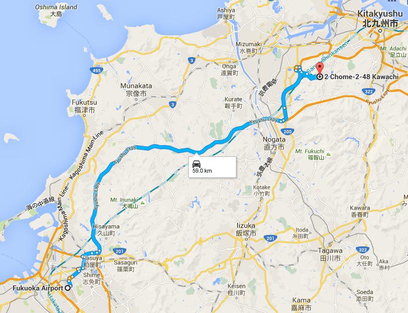 Route to Kawachi Fuji Garden