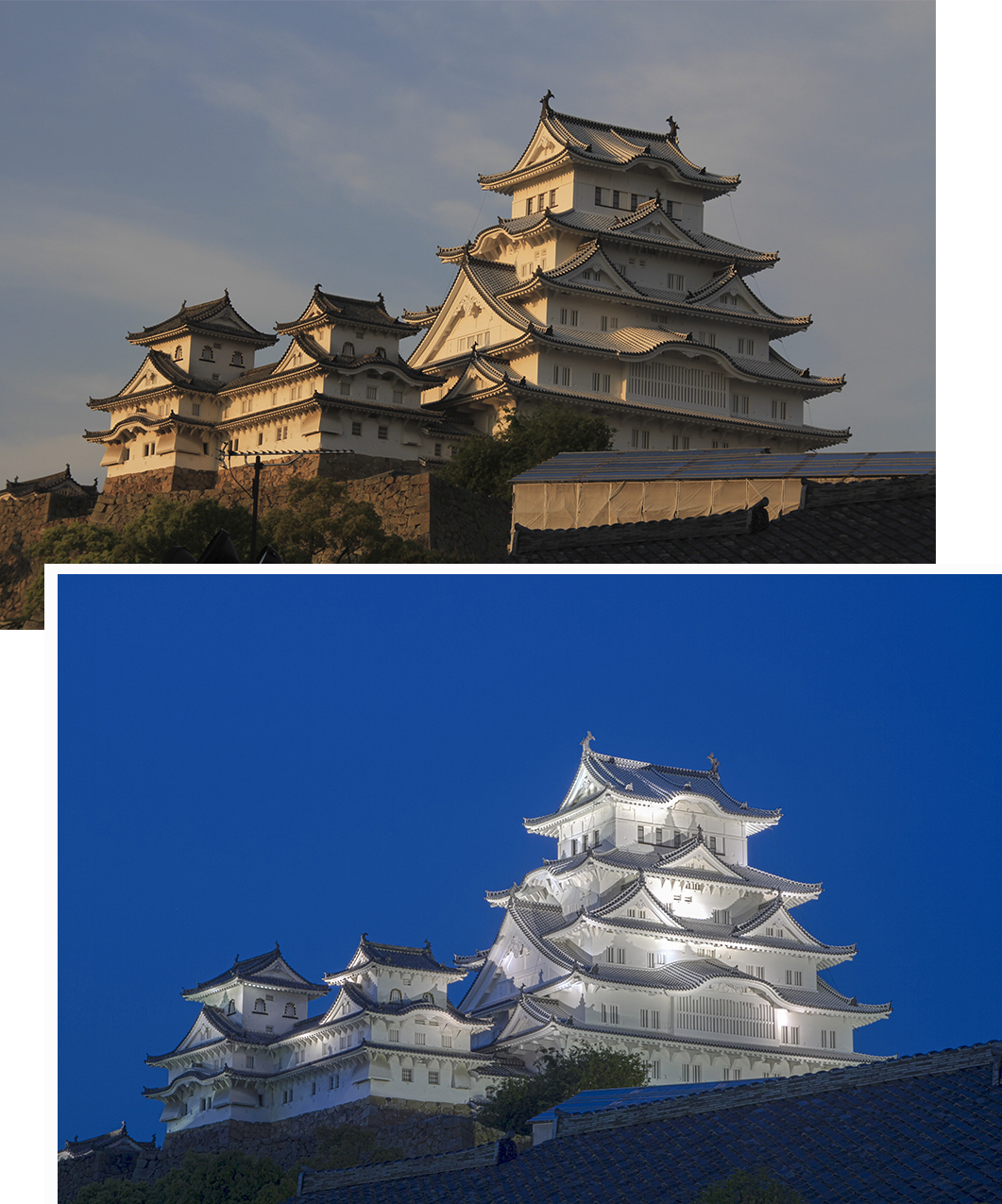Himeji Castle (Day and Night)