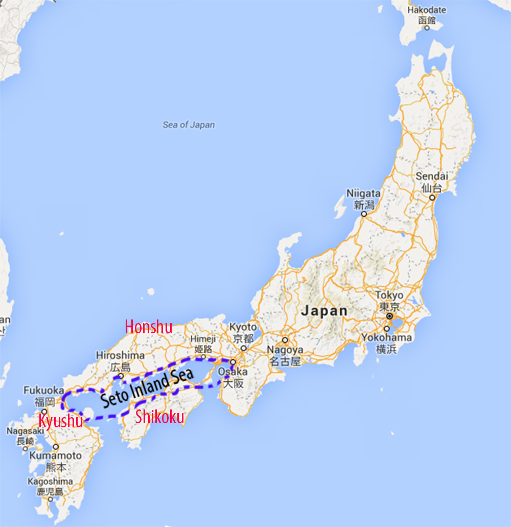 Map of Seto Inland Sea