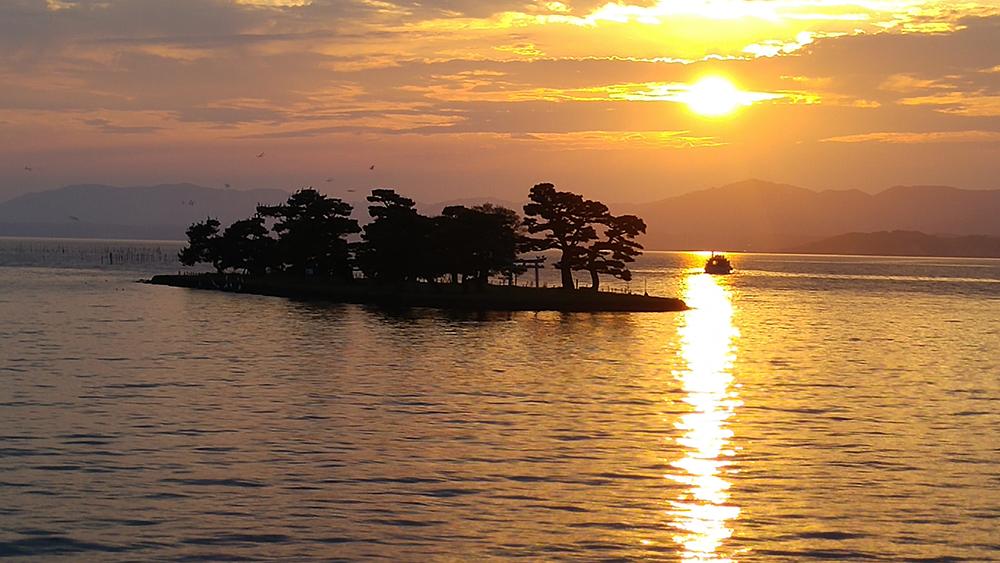 Sunset at Shinji Lake