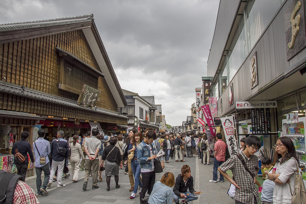 Crowded street of Ise Oharai-machi
