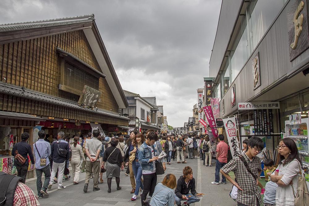 Crowded street of Ise Oharai-machi