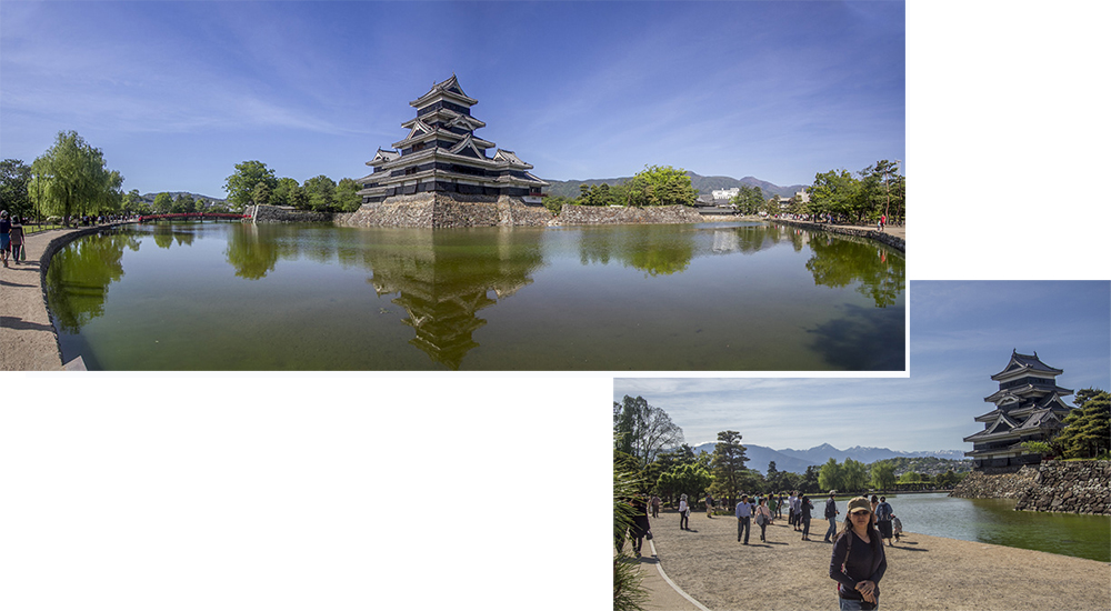 Matsumoto castle in late spring