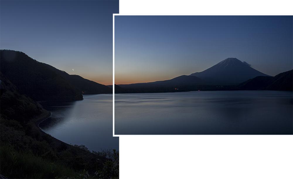 Lake Motosu & Mt Fuji at 4.30 am