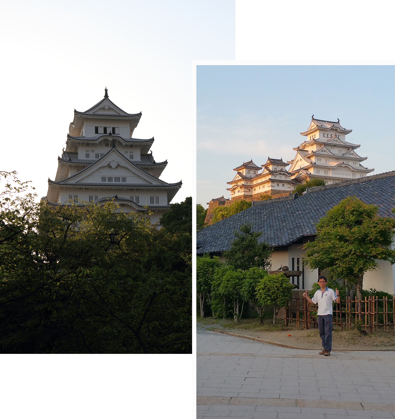 Himeji Castle at different angles