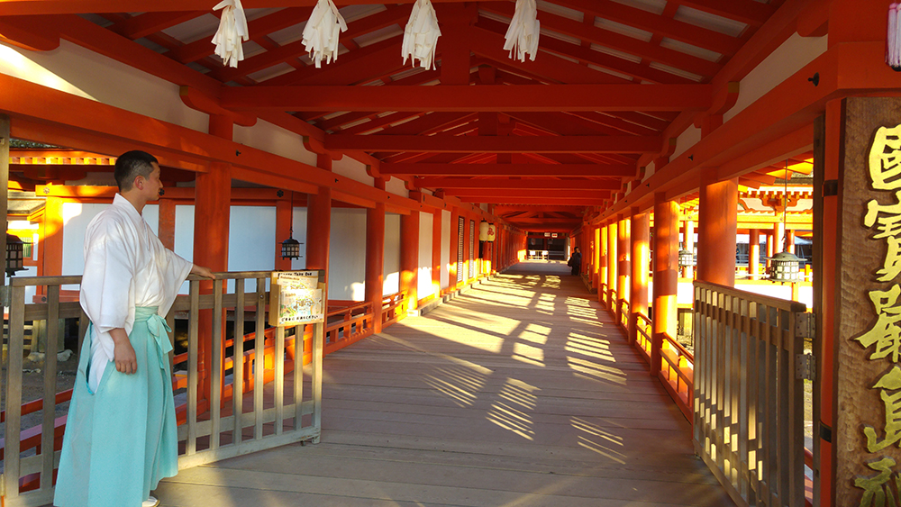 Gate Closing - East Entrance of Itsukushima Shrine