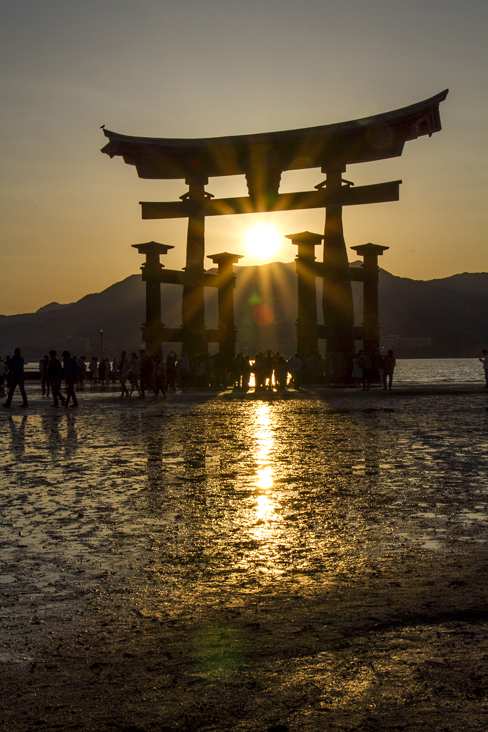 Sun set over the Great Torii Gate