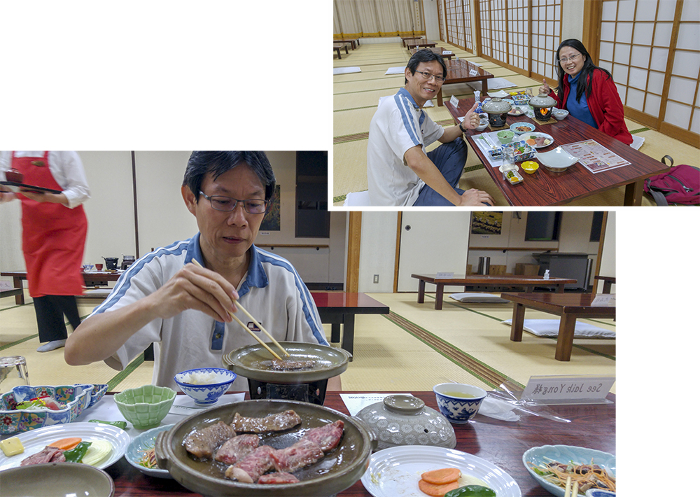 Dinner at Iruka Hot Spring
