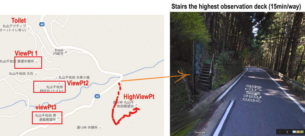 Stair to high view point