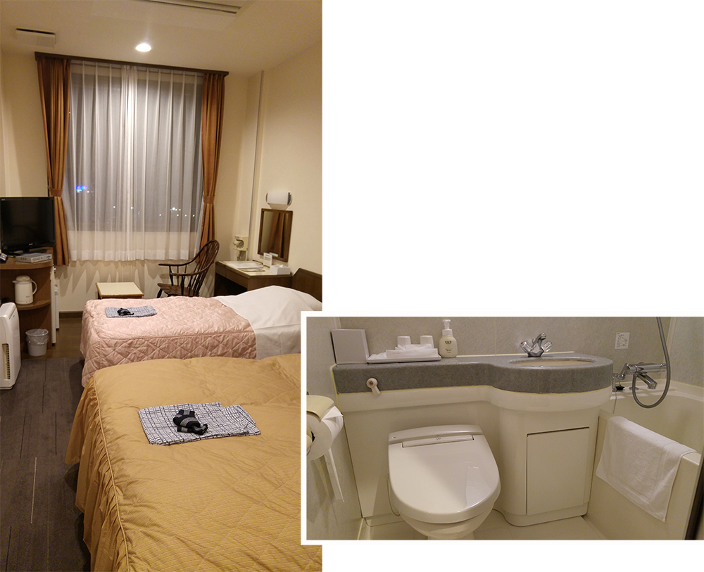 Double room at Business Hotel Kawakami