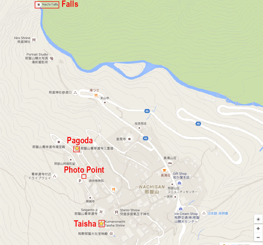 Map of Kumano Nachi Taisha