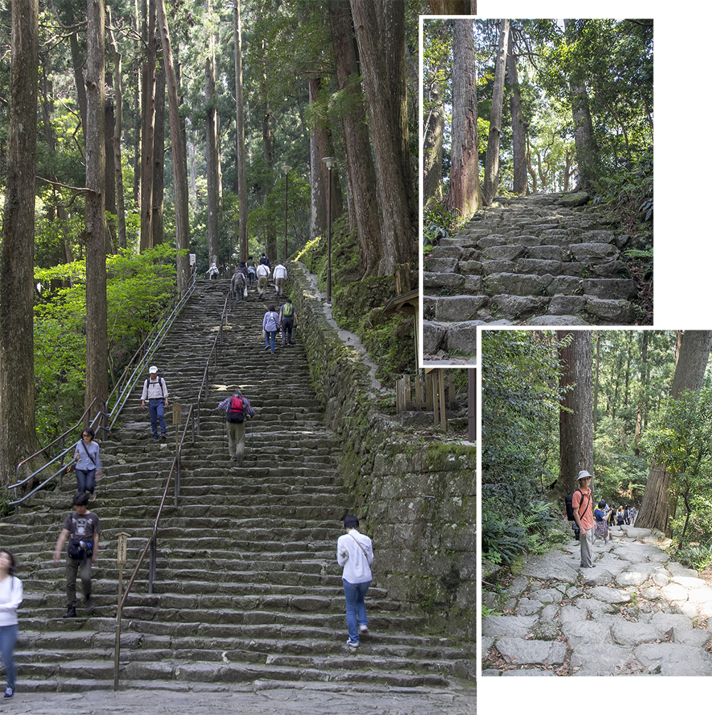 Steep steps to Nachi Falls