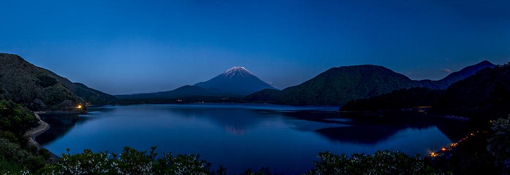 Mt Fuji over Lake Motosu