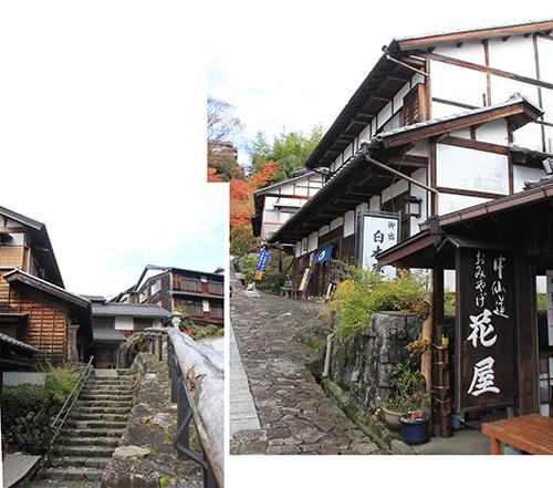Edo Houses on both sides of the main street
