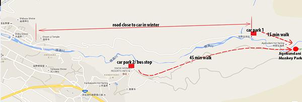 Car Park 1 (mapcode: 341 820 583*17), Car Park 2 (mapcode: 341 820 489*87
