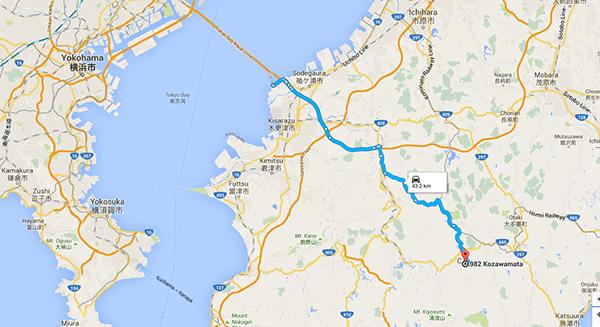 route to Yoro Keiskoku