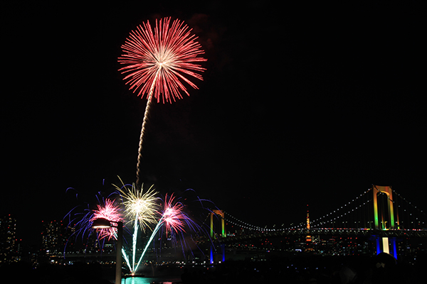 Firework over Rainbow Bridge