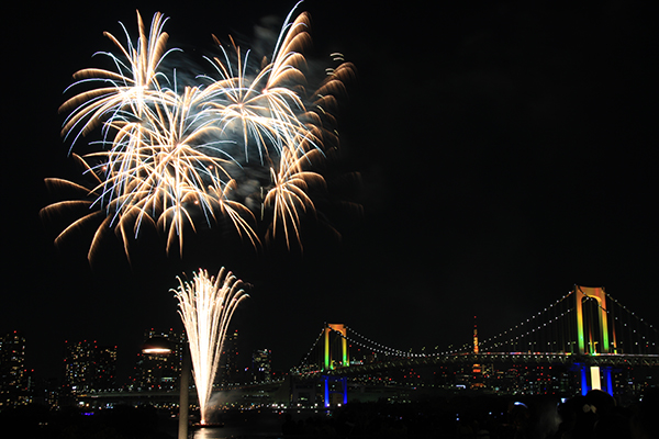Firework over Samida River