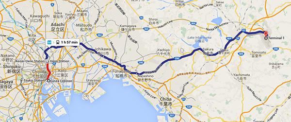 Subway route to Narita Airport