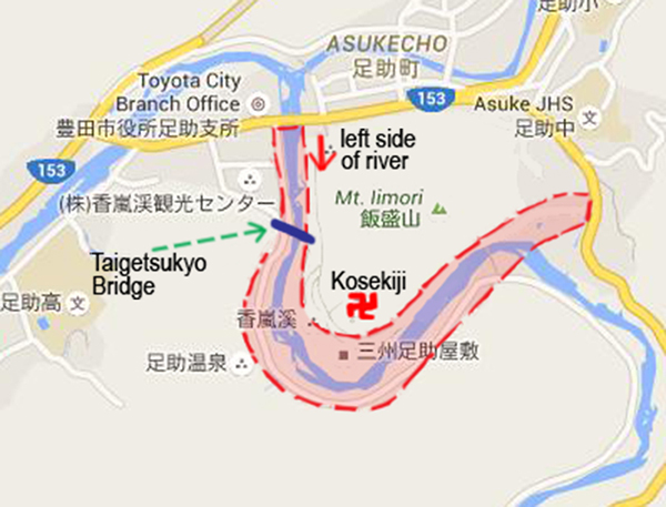 Korankei Gorge (Mapcode: 281 457 629*51)
