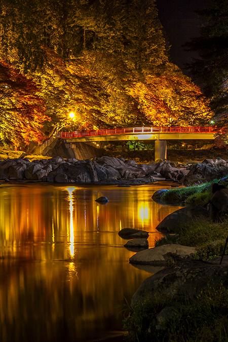 Night scene of Taigetsukyo Bridge – Korankei Gorge