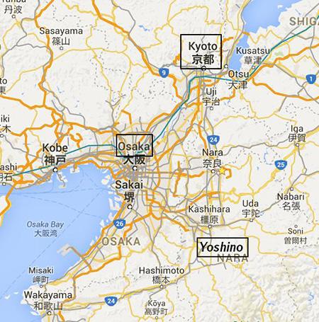 Osaka was enroute to Kyoto