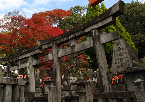 Cemetery in Fushimi Inari Shrine