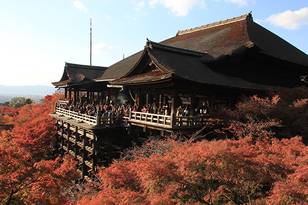 Main Hall and attached Kiyomizu Stage (Veranda)