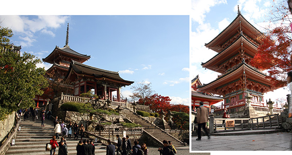 Three storied Pagoda of Kiyomizu-dera