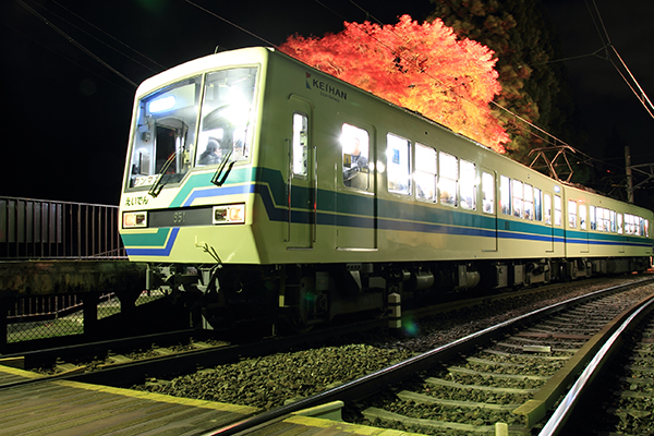 Train leaving Ninose Station