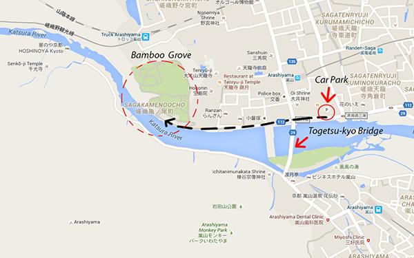 Arashiyama Bamboo Grove (mapcode: (7 635 387*77)