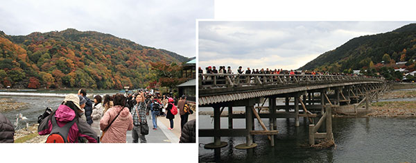 Noon was the peak period of the day in Arashiyama