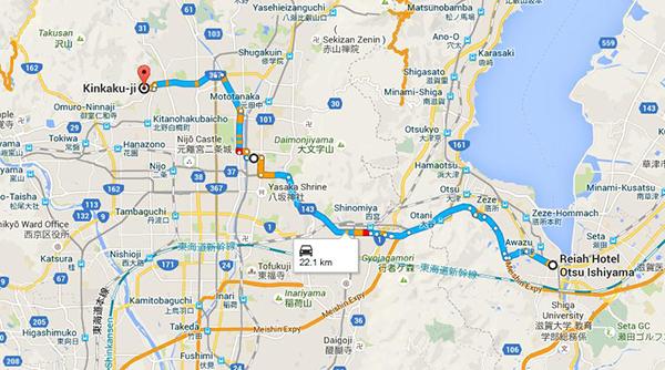 Route to Kinkaku-Ji