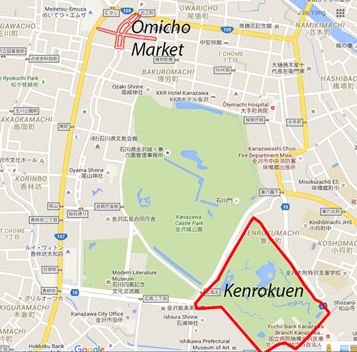 Map of Omicho Market