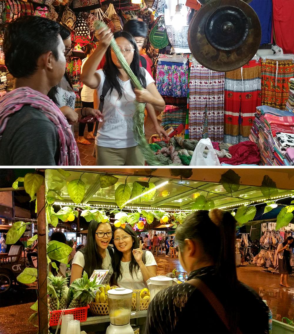 Shopping and Eating at Night Market Street