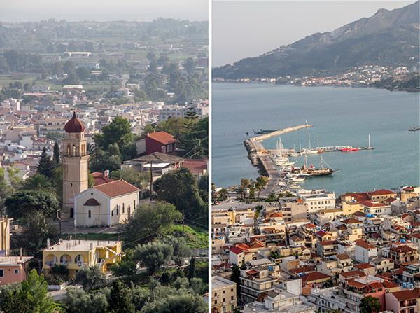 Zakynthos Port as viewed from Bochali Hill