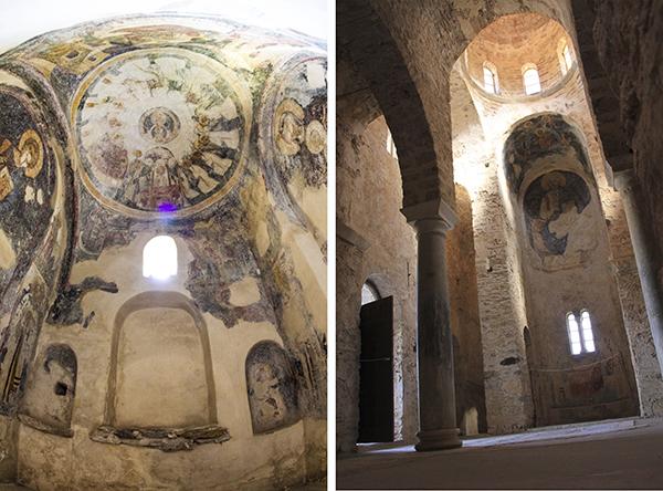 Frescoes inside Agia Sophia